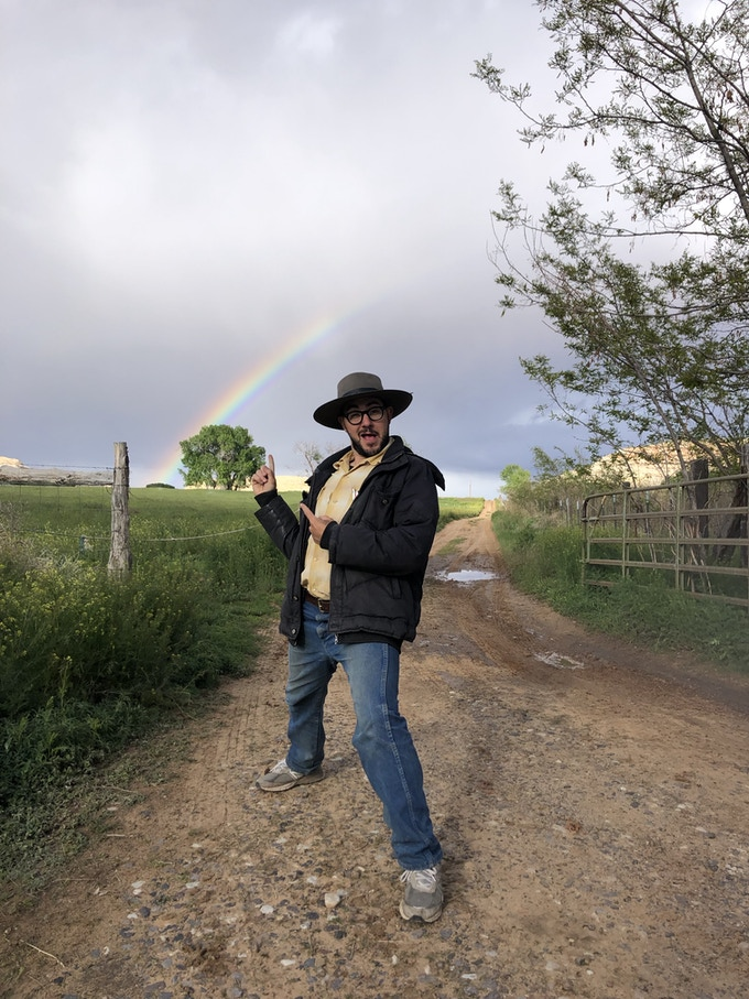Hosts are pots of gold at the end of the rainbows. The horses are the rainbows and I am..... the trail? You know what I mean!