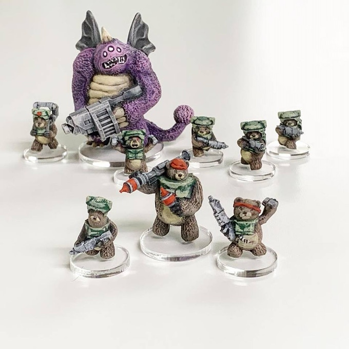 Some core urzans with a people eater (upcoming stretch goal model).