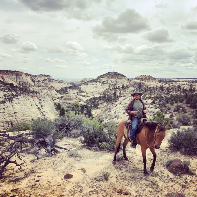 Riding starts with one horse, then leading a horse, then leading a horse with a pack saddle, then leading with a loaded pack saddle, then an overnight, then multiple nights, then multiple multiple nights. Regularly finding sufficient feed and water on the trail are two of the biggest challenges.