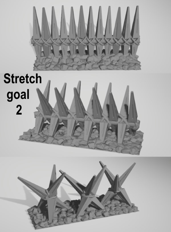 Third stakes fence design - Stretch goal 2 will be reached at 1000 EUR