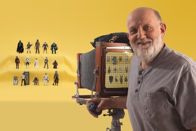 Kim Simmons behind the camera with the latest The Vintage Collection figures.