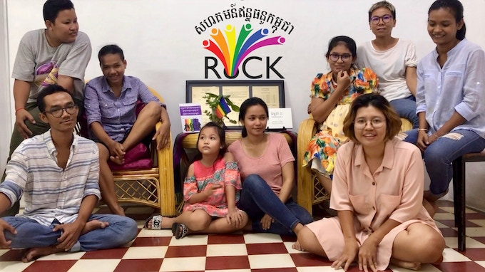 The RoCK team in their office in Phnom Penh.