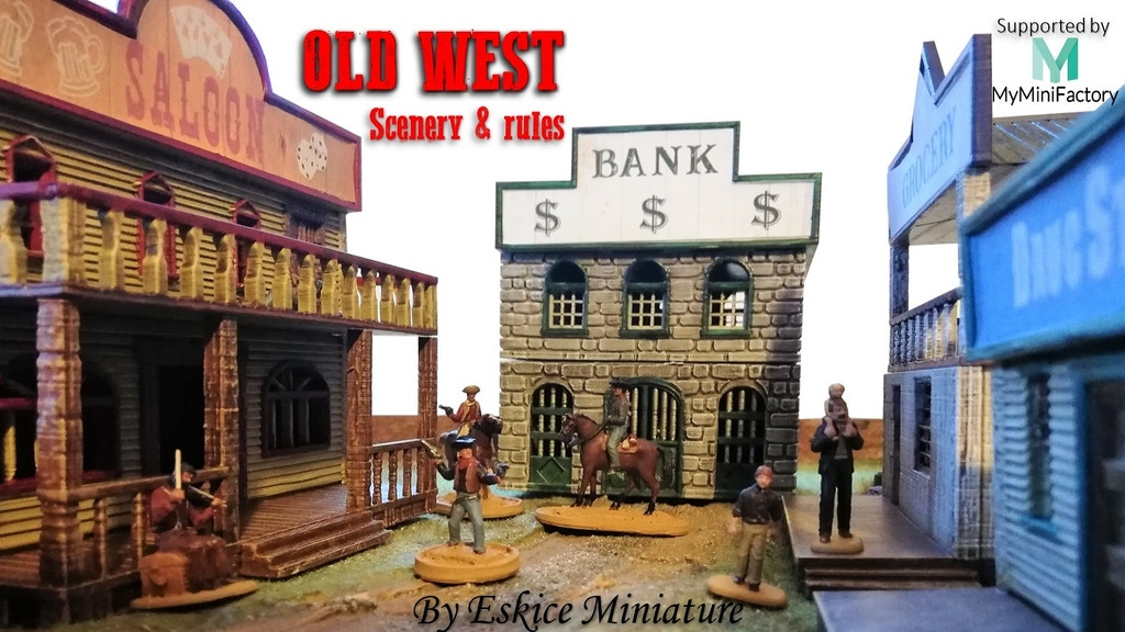 OLD WEST - 3d Scenery & Skirmish game project video thumbnail