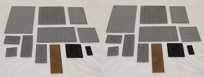 Basic Flat Dungeon Tiles, 24 pieces