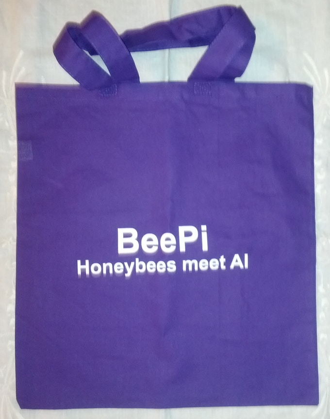 Purple BeePi Tote Bag