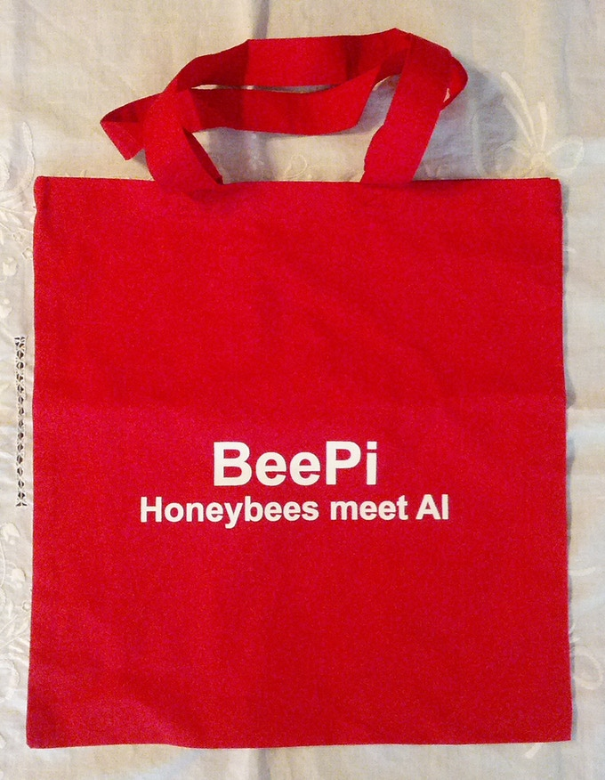 Red BeePi Tote Bag