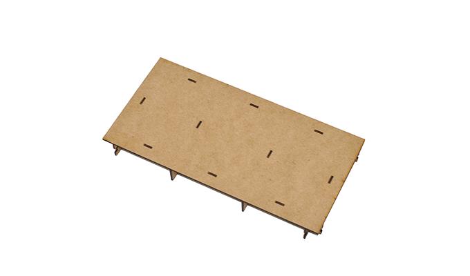Half flat tile