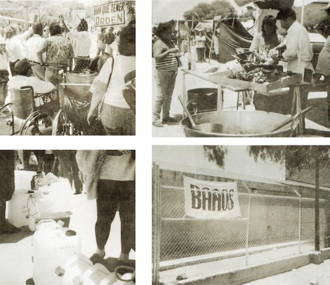 Fotos originales de las filas de espera/ Original pictures from the waiting lines