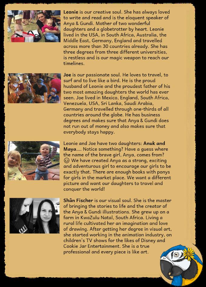 Anya & Gundi: Children's books to excite kids to travel! by Leonie