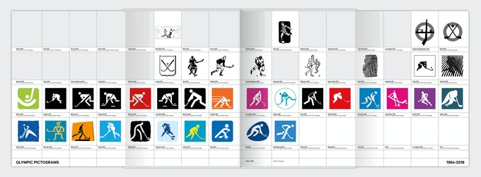 Foldout sheet: from illustrative figures to pictograms.