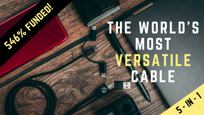 A Multifunctional 5-in-1 charging cable capable of charging all your gadgets! Now with Magnetic Charging Capability!