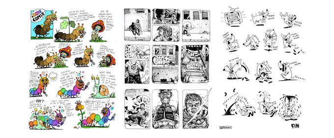 3 unrelated pages from the comix