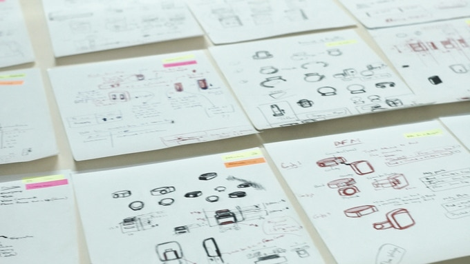 Wireframes for the App and Initial Ring concepts