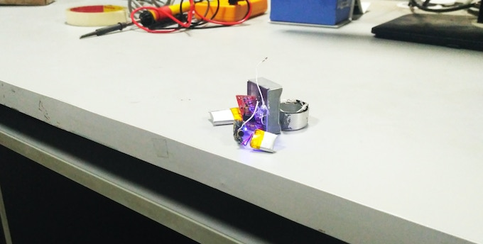 Our first functional non display prototype- it was huge