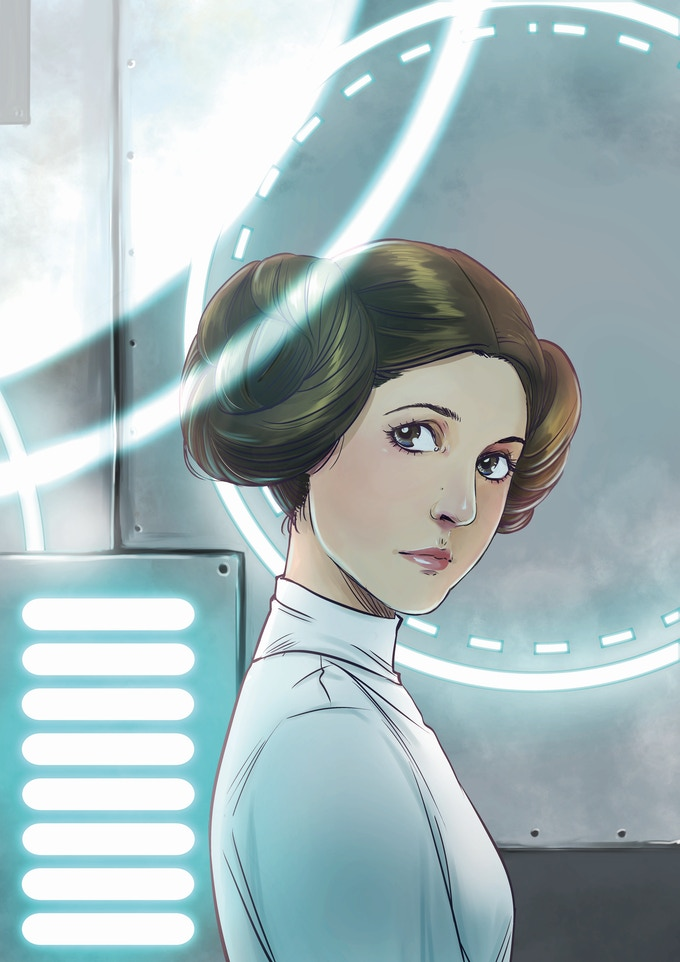 Princess Leia by Yishan Li
