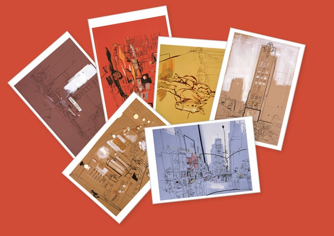 A set of six postcards on high quality stock