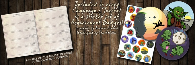Achievement Badge Sticker Sets Included With Every Campaign Journal