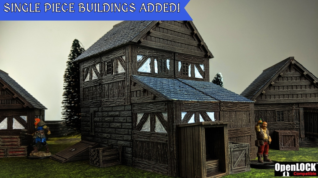 Homesteads and Hostelries 3D Printable Tile Set project video thumbnail