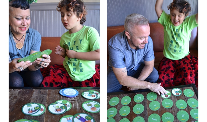 Playing with Pronouns gives a fresh & inclusive take on alphabet matching and memory games