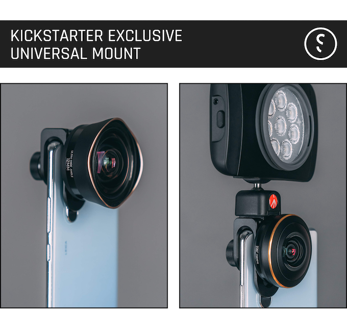 Universal mount can be mounted on any smartphones, with added cold shoe mount to mount any tools a phonetographer needs.