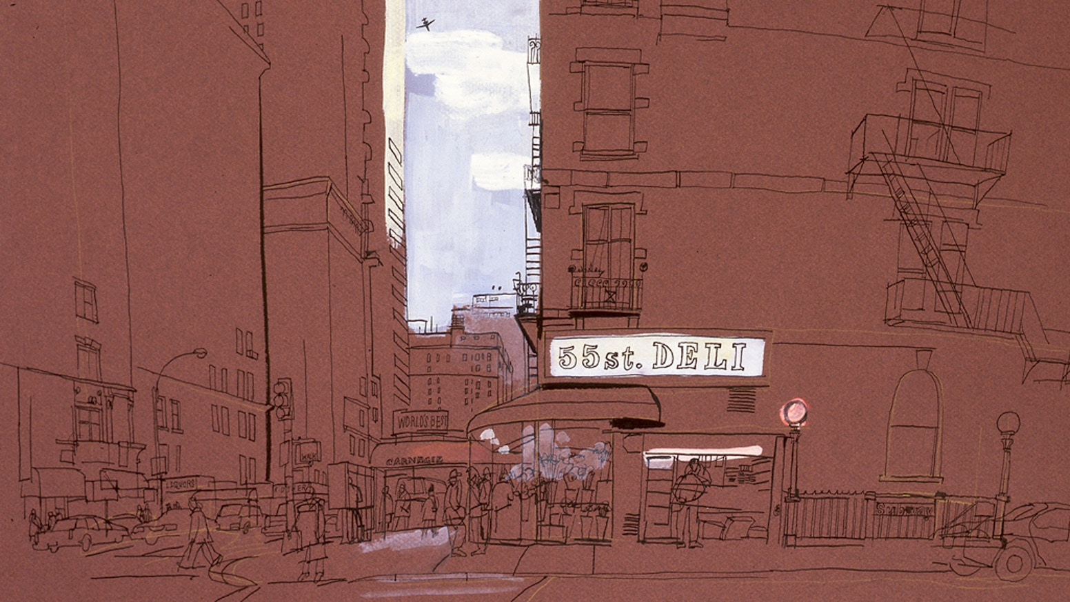 A book revealing NYC in 90 drawings over 30 years through the eyes of artist Lucinda Rogers was funded through Kickstarter on 5 July. It was finished at the end of November and delivery started in December. You can buy the book by clicking the link below.