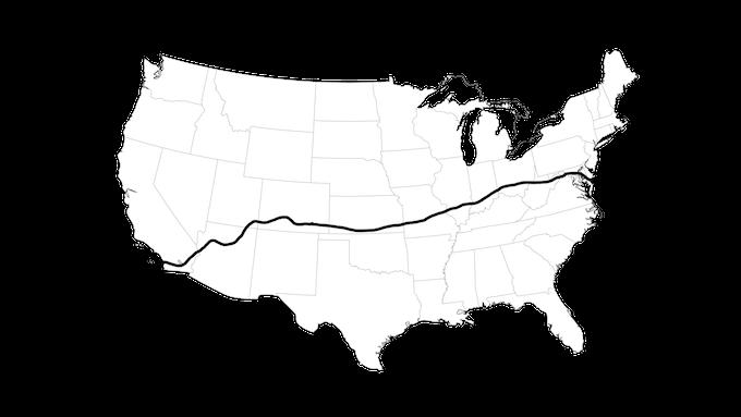 Rennstrecke (race track) - Race Across America