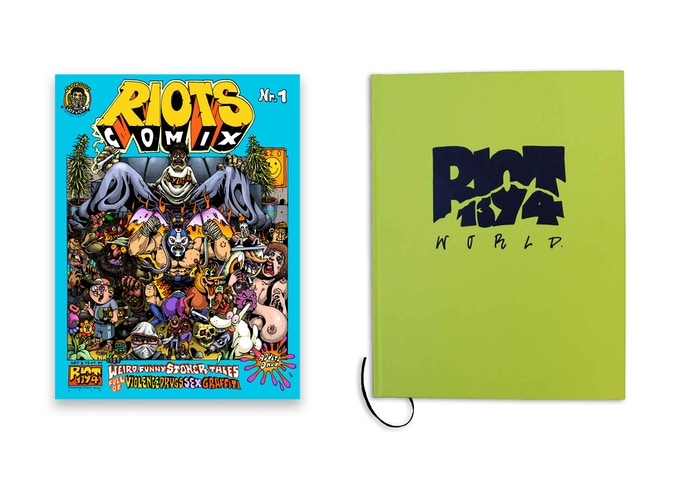 RIOTS COMIX + RIOT1394–WORLD (SOLD OUT) book