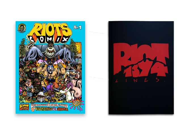 RIOTS COMIX + RIOT1394–LINES (SOLD OUT) book