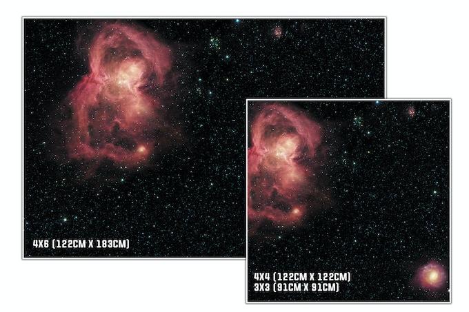Tailles : Nebula
