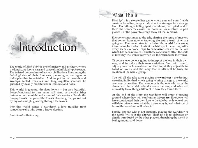 A sample two-page layout.