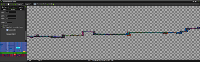 A snippet of our 80,000 pixel wide level. For context the player is 16 pixels!