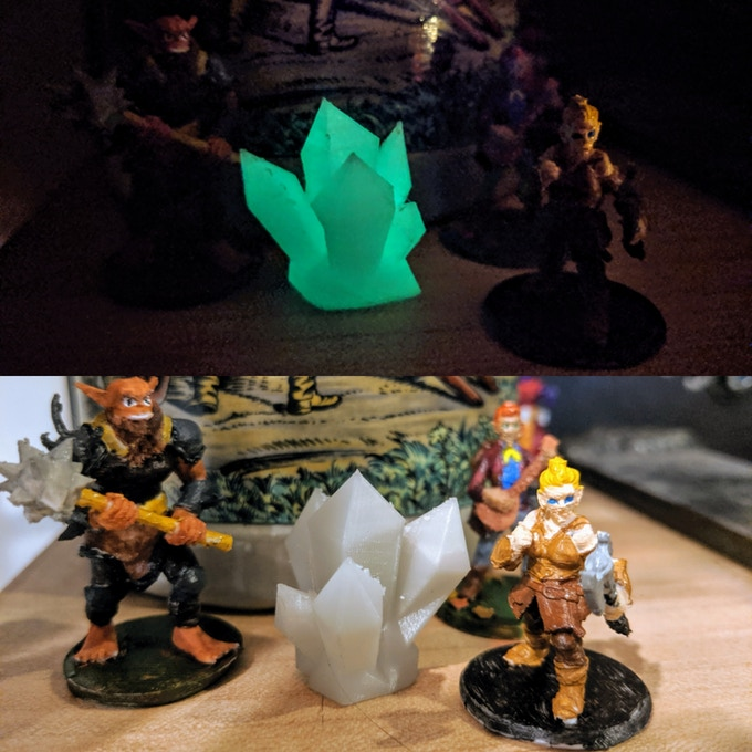 Thanks to u/Tarzan_OIC for sending this in! The glowing crystals would be perfect in some kind of underworld campaign, showing just how versatile the files are!
