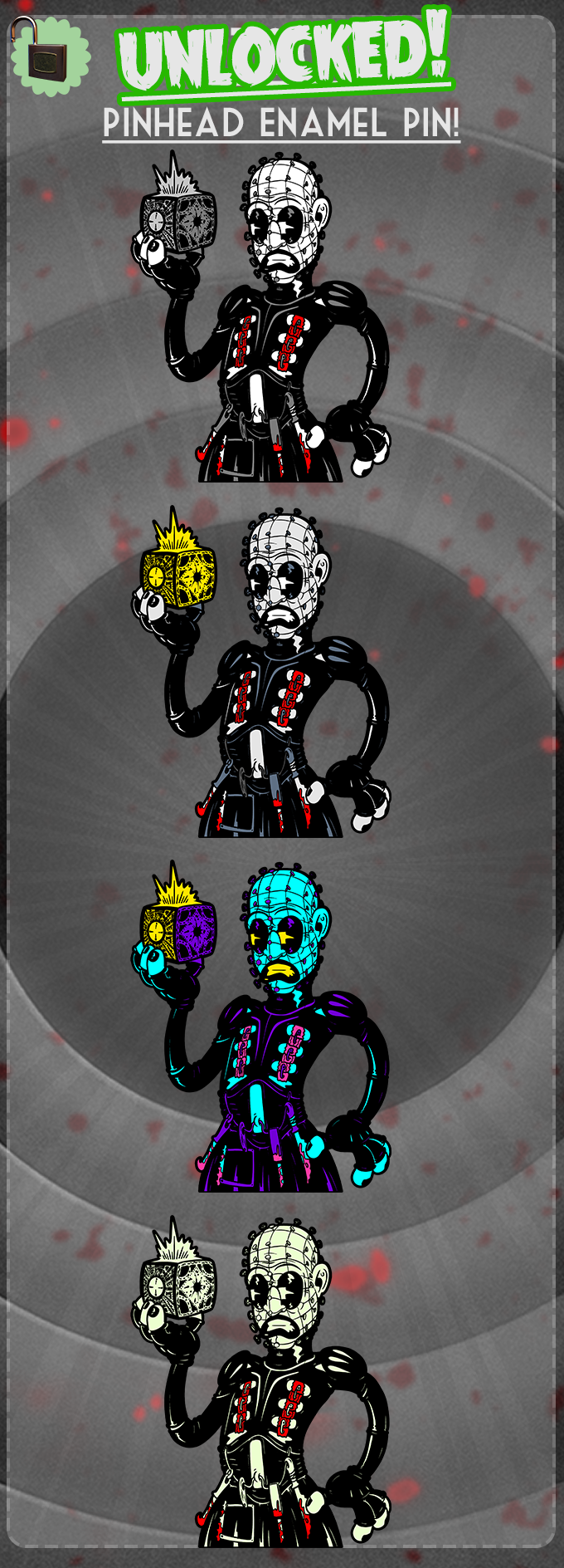 The box has been opened! Pinhead is unlocked in all varaints!