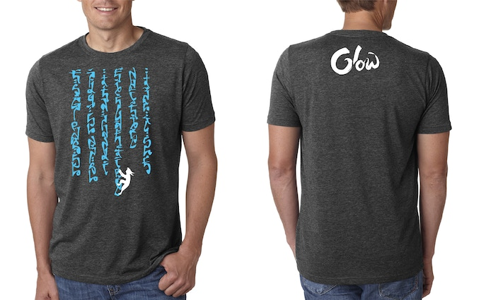 Official Glow T-Shirt design by Anny Maulina. Printed on Next Level Shirts and available in S-XL.
