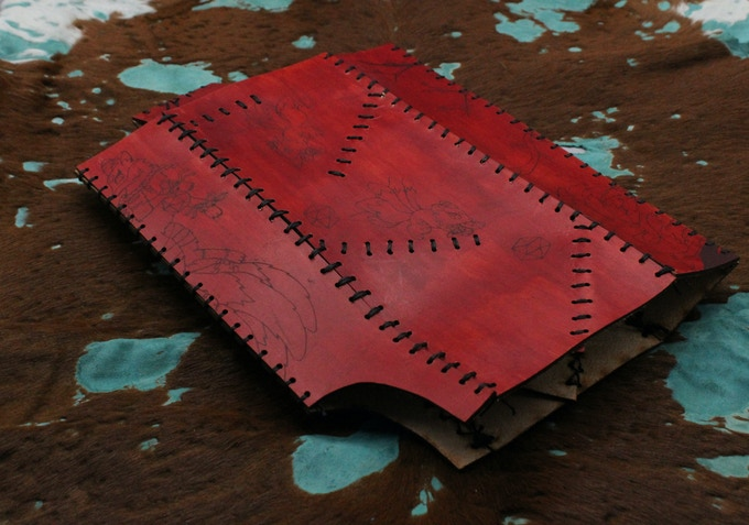 Leather Folding Dice Tower - Folded