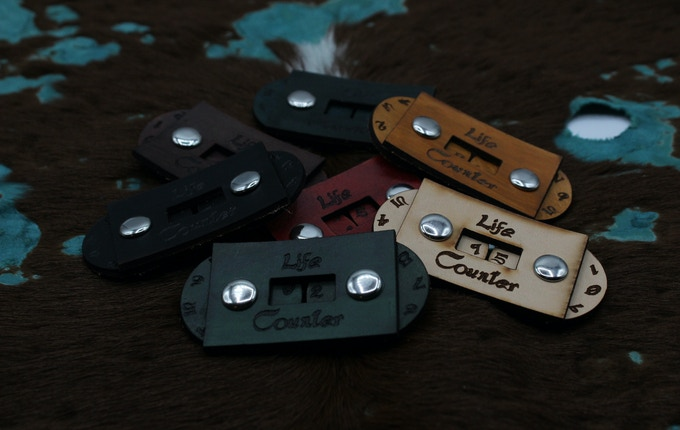 Leather Life Counters - Font Art By: DaSueDragon
