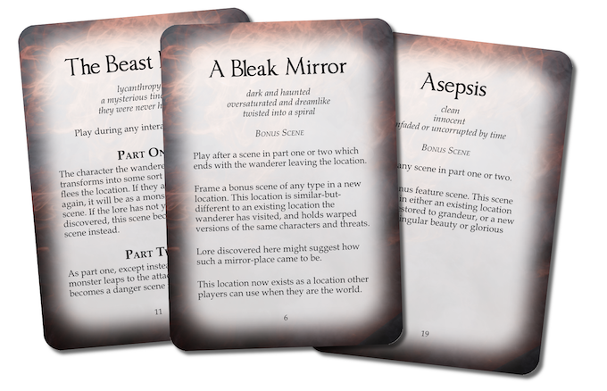 Samples of three of the special cards.