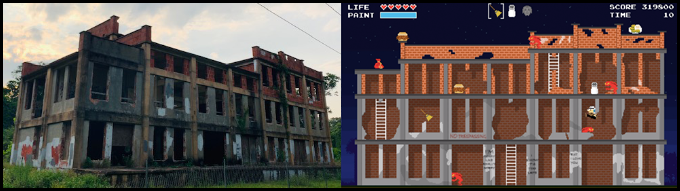 "The Seacoast Packing Company, more affectionately known to locals as the old ""Pickle Factory,"" is a mysterious abandoned building located along Beaufort's Spanish Moss Trail. A ""pixel art"" version of the structure will be the setting of one of the bonus stages in BUGS 'N BOO HAGS."