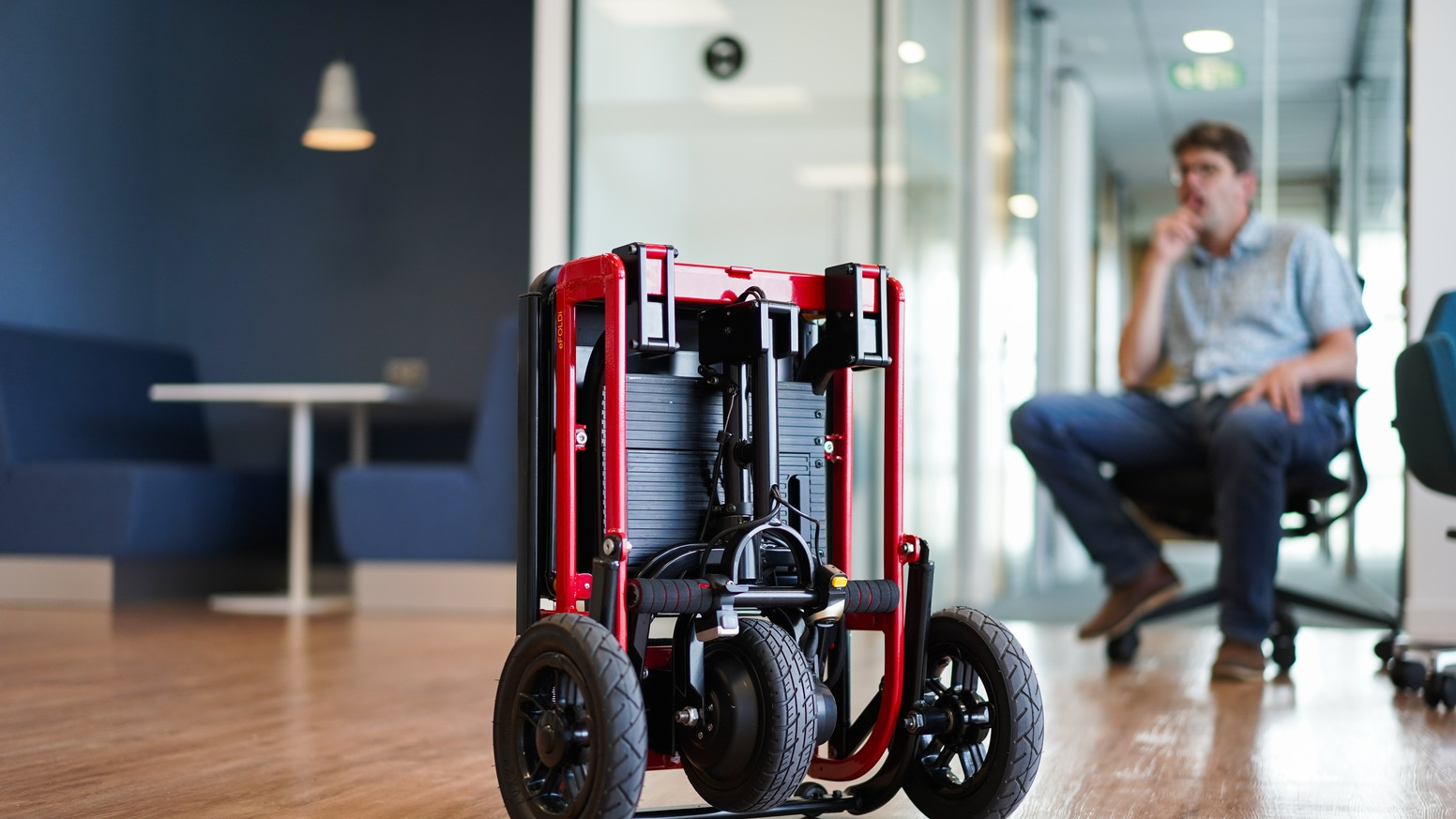 """Introducing the World's lightest folding mobility scooter.  Described by Sir Richard Branson as """"Folding Magic""""."""