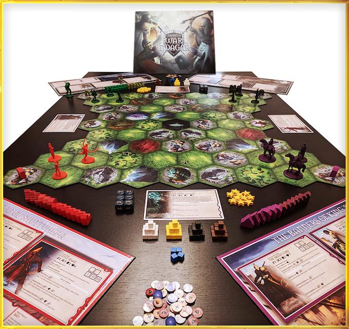 The full spread of War for Indagar - Monster Minis not shown