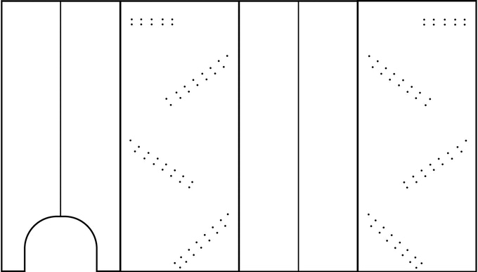 Blank Dice Tower Outline - Feel Free to Download and Print Out