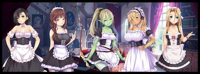 Example of Characters in Maid Costume Talisman DLC Pack