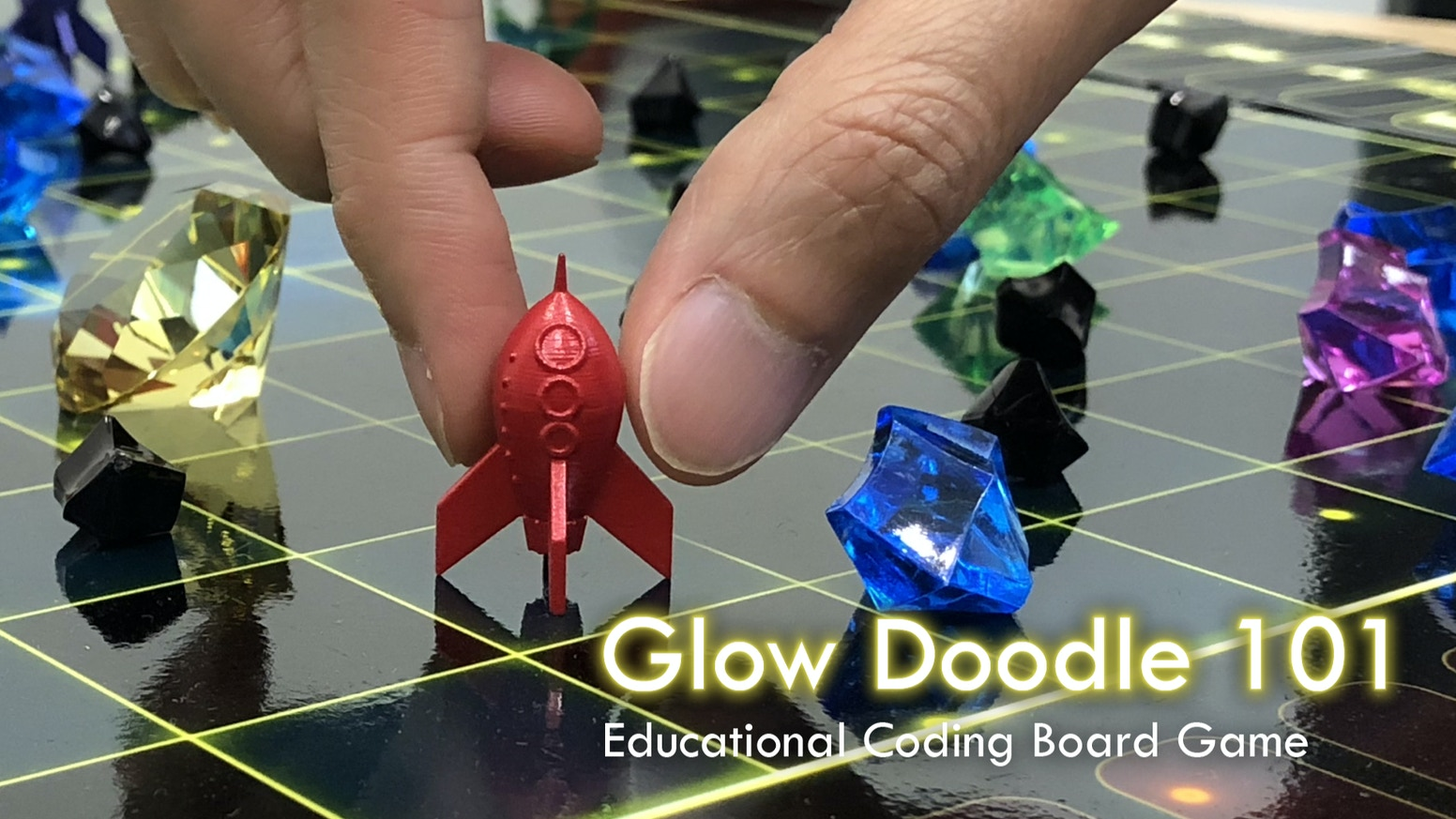 Glow Doodle 101 - Educational Coding Board Game (Relaunch