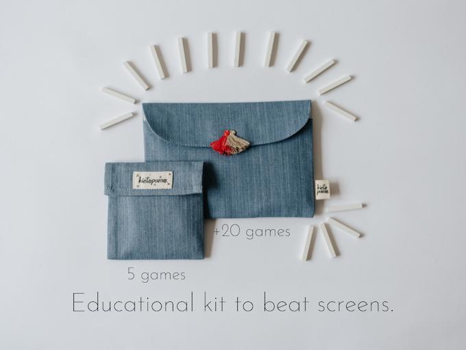 Kietoparao kit de juegos de su campaña de crowdfunding e influencer marketing