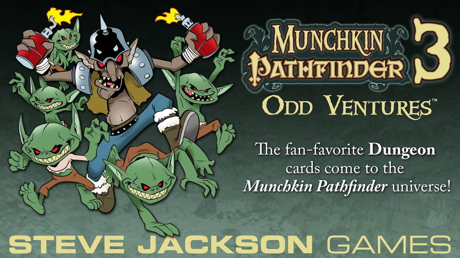 A new tuckbox expansion and one new accessory for Munchkin Pathfinder, illustrated by Lar deSouza.