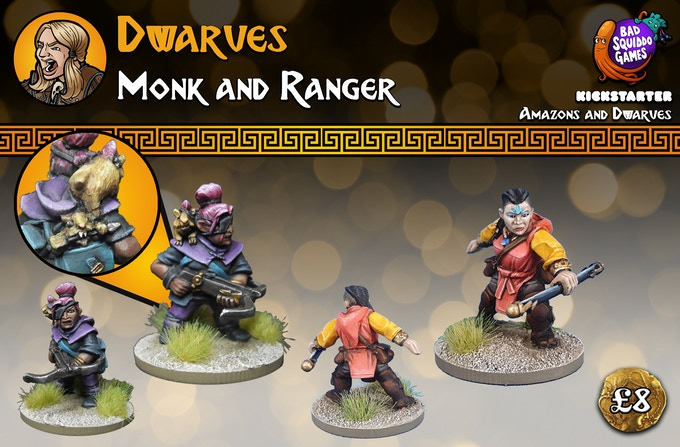 This pack contains two multi part high quality white metal miniatures. Supplied unpainted.