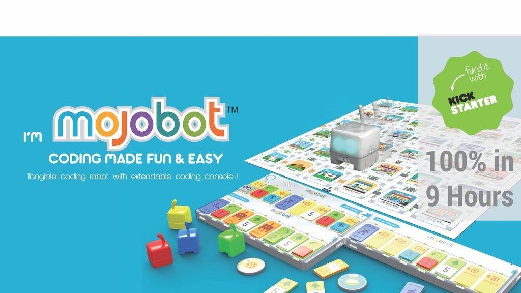 Mojobot - World's first tangible coding robot board game project video thumbnail