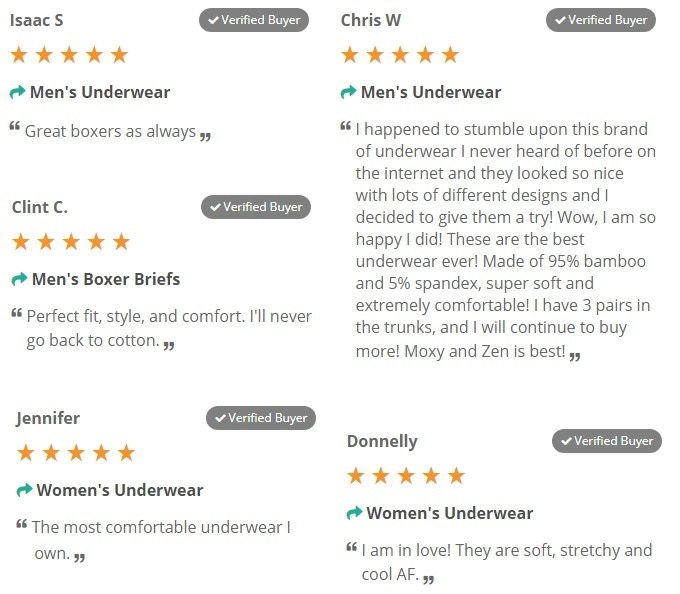 100's of verified 5-star reviews