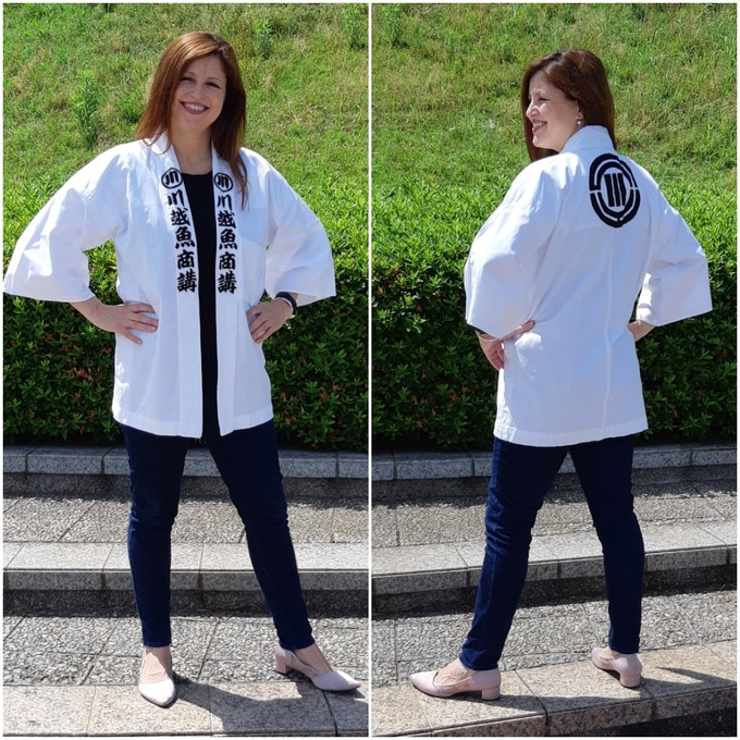 An example of the vintage pilgrimage jackets donated by Oyama to support our fundraising!