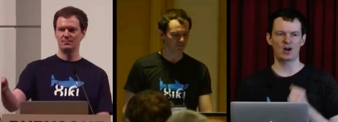 Me, Craig Muth, speaking at the QCon, Strange Loop, and RubyConf conferences about Xiki. I've also appeared as a guest on the Change Log and Ruby Rogues podcasts. (Xiki interfaces used to require Ruby, but will support any language going forward.)